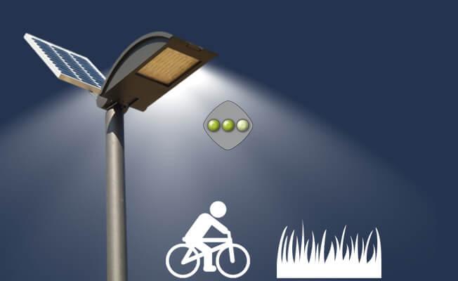 lampioni solari piste ciclabili